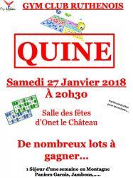 Affiche quine 2018