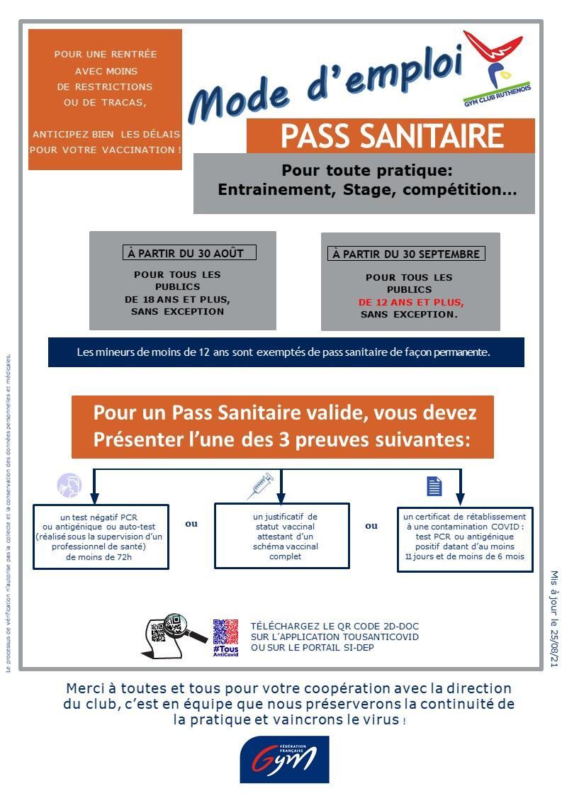 Pass sanitaire affiche